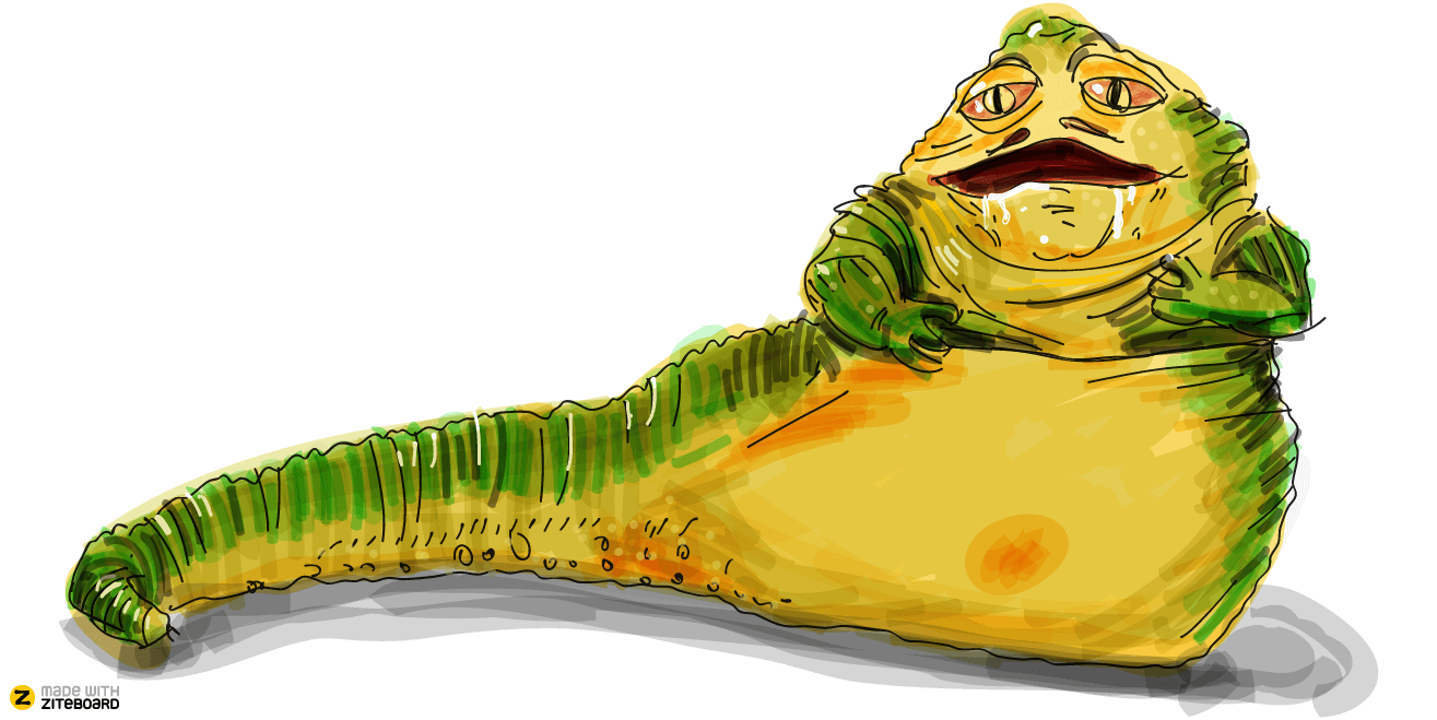 Jabba, freehand drawing on whiteboard paint fill shapes, change color line stroke