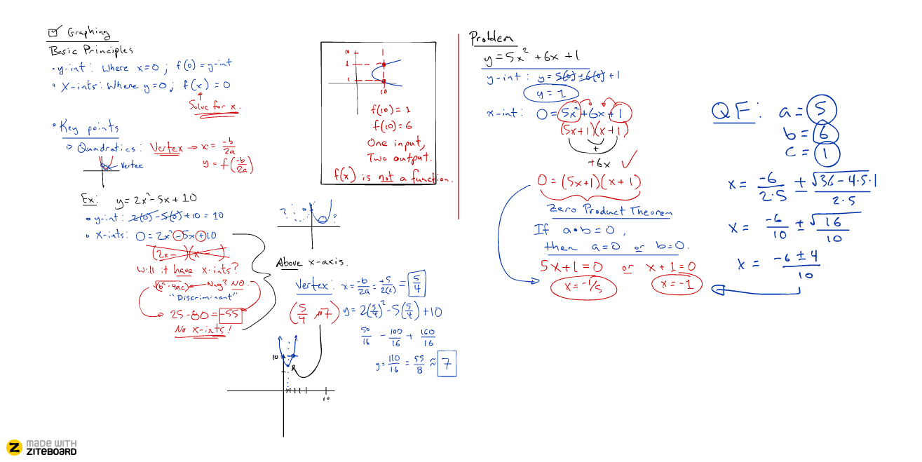 Ziteboard mathematics whiteboard