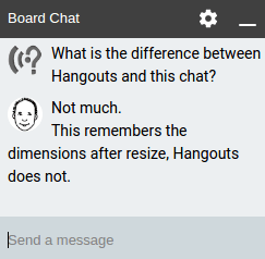 Text chat ziteboard